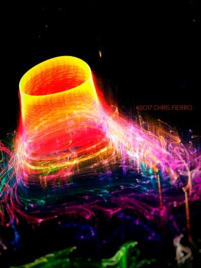 Neon volcano